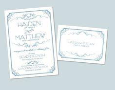 Designer Wedding Invitation.