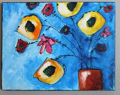 11 x 14 abstract floral canvas Mixed Media Artwork, Appreciation, Abstract, Canvas, Handmade Gifts, Floral Paintings, Creative, Art Journaling, Inspiration