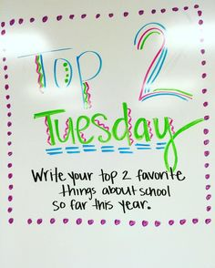 Write your top 2 favorite things about school so far this year. Whiteboard, Journal Topics, Daily Journal, Journal Prompts, Morning Board, Morning Activities, Daily Writing Prompts, Bell Work, Responsive Classroom