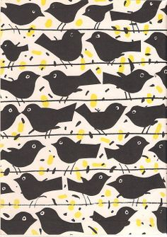 Janusz Stanny, bird, print, design, repreat, pattern, cute, fabric