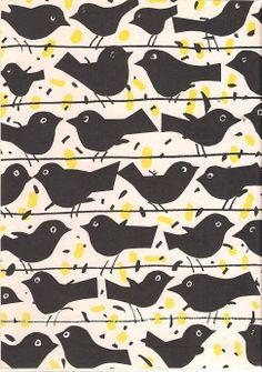 Janusz Stanny, bird, print, design, repreat, pattern, cute, fabric