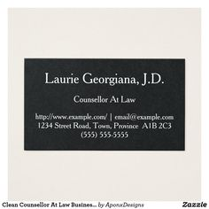 Shop Clean Counsellor At Law Business Card created by AponxDesigns. Business Card Design, Business Cards, Card Designs, Letter Board, Law, Cleaning, Lipsense Business Cards, Card Patterns, Home Cleaning