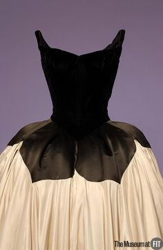 Designer: Charles James  1906-1978  Medium: Black velvet and silk satin  Date: 1951