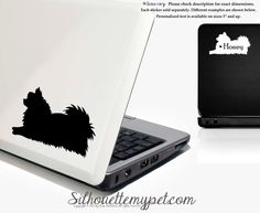 Pomeranian Decal Vinyl Sticker Optional by silhouetteMYpet on Etsy