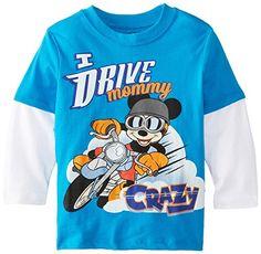 Disney Little Boys' Mickey Mouse Long Sleeve