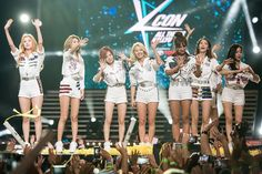 Girls' Generation perform at the 2015 NYKcon festival.