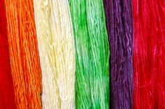 I dyed this yarn with Kool-Aid