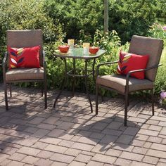 3 Piece Patio Bistro Set Glass Table Chairs Outdoor Garden Furniture Backyard monthly payments available Outdoor Garden Furniture, Outdoor Chairs, Outdoor Decor, Patio Dining, Dining Table, Bunk Bed Designs, Bistro Set, Outdoor Settings, Backyard