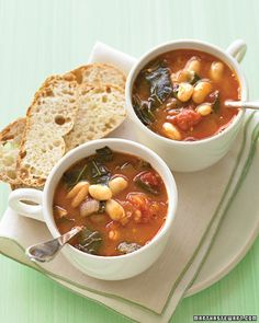 Minestrone with collard greens