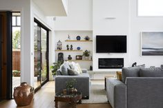 GD1 Indoor glass fronted gas fireplace for Brendon Gordon Architects