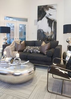 Living room by John Gibson, designer and owner of Urban Pad in Little Rock.