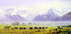 Mt Sefton & Mt Cook by Peter Beadle for Sale - New Zealand Art Prints