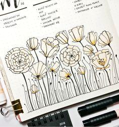 Beatiful journal illustration by ig @marynio_bujo