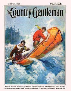 In A Birch Wood Canoe - Country Gentleman 1930