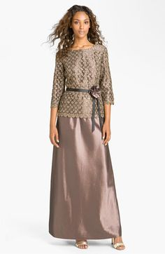 Alex Evenings Two-Piece Lace Overlay Taffeta Dress available at #Nordstrom