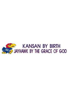 Kansas Jayhawks Bumper Sticker- KU Kansan By Birth Bumper Sticker