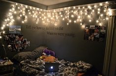 love how the quote has carried on the nest wall! and the fairy lights are fab!