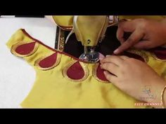 Easy patch work blouse neck designs cutting and stitching Blouse Back Neck Designs, Sari Blouse Designs, Fancy Blouse Designs, Churidar Neck Designs, Kurta Designs, Stitching Dresses, Blouse Models, Sleeve Designs, Boat Neck