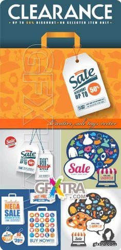 Creative sale tags vector