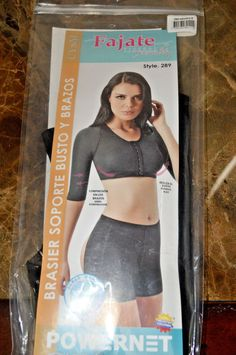 58.88$  Watch now - http://vikbp.justgood.pw/vig/item.php?t=ozbtis929360 - Brand New! Fajate Arm & Chest/Back Female Compression Garment Black (Small)