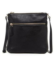Look at this #zulilyfind! Black Saxon Leather Crossbody Bag by Susu #zulilyfinds