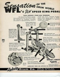 wfl speed king pedal / ludwig drum co.