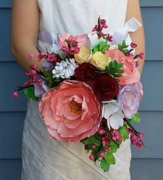 Completely Handmade Paper Bridal Bouquet. by OutsideTheStacks, $150.00