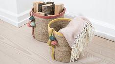 DIY: Decoration of baskets by Søstrene Grene