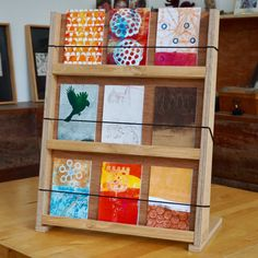 Ply wood card display for markets and pop-up shops. Looking great and amazingly easy to transport and assemble. Made in Perth, Western Australia.