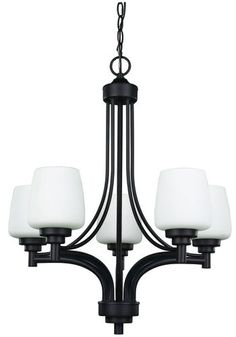 Patriot Lighting Camden 5 Light 23 Oil Rubbed Bronze Chandelier At Menards Dining Room