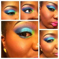 …or greens and blues and purples. | Tropical Eyes Are The New Smokey Eyes And They're Mesmerizing