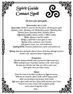 Connect to your spirit guides spell