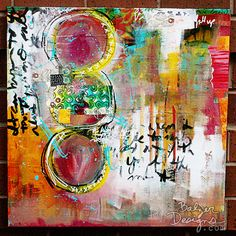 Julie Fei-Fan Balzer - Mixed Media Collage;  trying to push herself to do more abstract, less face based.