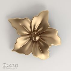 3D model of the carved flower for visualization and production on CNC machines.