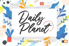Proudly Present, Daily Planet Handbrush Font. Daily Planet is a modern brush font that is perfect for any title, shop name and logo. Modern Script Font, Modern Fonts, Great Fonts, All Fonts, Awesome Fonts, Handwritten Fonts, Script Fonts, Calligraphy Fonts, Lettering Tutorial