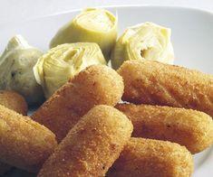 Cómo hacer croquetas de alcachofa Onion Rings, Canapes, Pretzel Bites, Tapas, Plant Based, Bacon, Appetizers, Bread, Meals