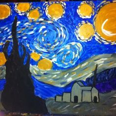 """My starry night"" inspired by Van Gogh."