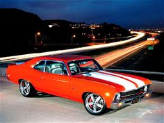 A crossbreed of a 1969 Chevrolet Nova and a 1969 Camaro featured in Hot Rod magazine. Chevy Nova, Chevy Ss, Nova Car, Chevy Girl, Dream Cars, My Dream Car, Best Muscle Cars, American Muscle Cars, General Motors