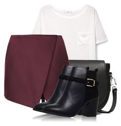 """""""Untitled #2204"""" by c0kkiemonsterrx3 ❤ liked on Polyvore featuring MANGO, rag & bone and Topshop"""
