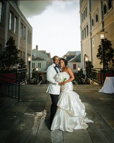 In the Spotlight: A beautiful Spring wedding ceremony in the New Orleans French Quarter on the Mississippi Riverfront.   REAL WEDDING :: DEWANNA + HARRY {Magnetic Connection}   http://www.neworleansweddingsmagazine.com/real-wedding-dewanna-harry-magnetic-connection/  photo: Prince Photography