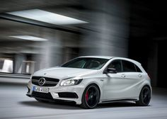 Mercedes unveiled, A45 AMG, fitted with four-cylinder turbo engine with 360 hp, making it a leader among the production vehicle, when it comes to the relative displacement, and strength so that it makes it the most powerful hot hatch on the market.  Maximum power is delivered at 6000 rpm and maximum torque of 450 nm in the range of 2750 to 5000 rp