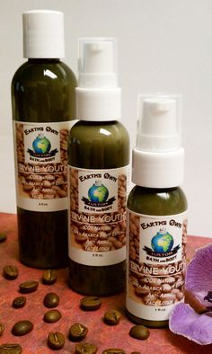 "This is the New, Improved & Better than Ever ""DIVINE YOUTH"" All Natural 1% Coffea Arabica Fruit Extract Rich Natural, and Naturally Caffeinated Anti Aging Face & Body Lotion! (which was highly requested!) This has more anti aging extracts and oils than I can list, plus contains a whopping 1% organic coffea arabica fruit extract!!  http://earthsownbathandbody.thecraftstar.com/"