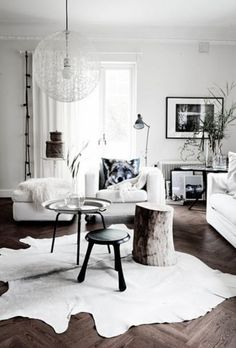 Winter living room decorating ideas
