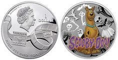 Scooby-Doo Featured on New Silver Coins   The latest coins from the pacific island of Niue include images of everyone's favorite Great Dane, Scooby-doo who hit the airwaves of American television on Saturday mornings beginning in 1969.