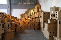 cardboard dickensian city - Google Search