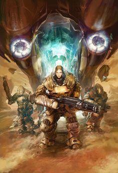Sci-fi Art: Shrapnel Trade Cover - Radical Comics - 2D Digital, Digital paintings, Sci-fiCoolvibe – Digital Art