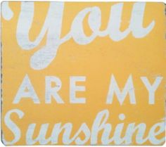 You Are My Sunshine Wall Art by Go Jump in the Lake