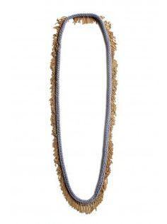 Vonnegut/Kraft Knit Bamboo and Brass Necklace - Light Purple