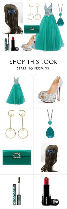 """""""Ball Outfit #11"""" by mleabates21 on Polyvore featuring Christian Louboutin, Chloé, Effy Jewelry and Roger Vivier #rogervivieroutfit"""