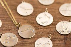 Diamond star constellation pendant necklace Sagittarius Aquarius Capricorn Leo Virgo Taurus Gemini Cancer Libra Pisces Scorpio Aries sc-n101 by EnveroJewelry on Etsy https://www.etsy.com/listing/235549377/diamond-star-constellation-pendant